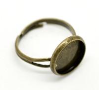 Wholesale Round Ring Mount Setting - 150pcs Bronze Ring Base - Round Blank Ring Tray Fit 12mm Circle Bezel Setting brass mounting