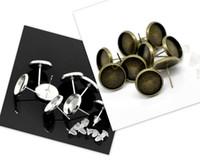 Wholesale Bezel Round Earrings - 200pcs 12mm Stud Earring Blank - Round Bezel Setting - Bezel Stud Earrings - Post Earring Findings brass w  free earing backs