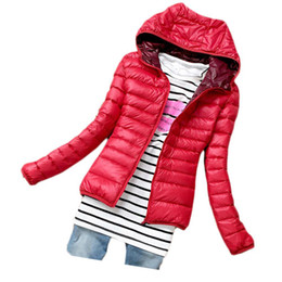 Wholesale Thin Down Jacket Women Green - S5Q Women Parka Jacket Candy Color Slim Down Coat Lady Winter Warm Thin Overcoat AAADWB
