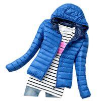 Wholesale Thin Down Jacket Women Green - S5Q Women Candy Color Slim Down Coat Lady Winter Warm Thin Parka Jacket Overcoat AAADWB