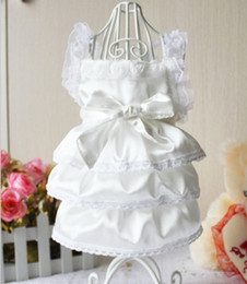 Wholesale Luxury Pet Dog Clothes - Wholesale-Best Quality New Luxury Lace White Party Bride Wedding Dog clothes Princess Pet Clothes Dress Yorkshire Chihuahua dog clothing