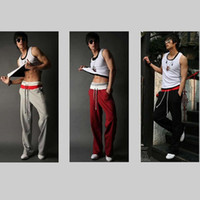 Wholesale Men S Harem Pants Baggy - Wholesale-Free Shipping Men Casual Sport Sweat Pants Harem Training Dance Baggy Jogging Trousers Slacks