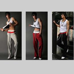 Wholesale Men Harem Slacks - Wholesale-Free Shipping Men Casual Sport Sweat Pants Harem Training Dance Baggy Jogging Trousers Slacks