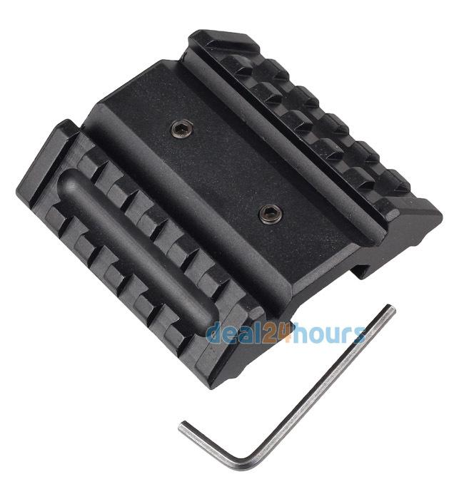Wholesale-New Tactical Dual 45 Degree Offset Mount 20mm W/ Picatinny Rail For Sight