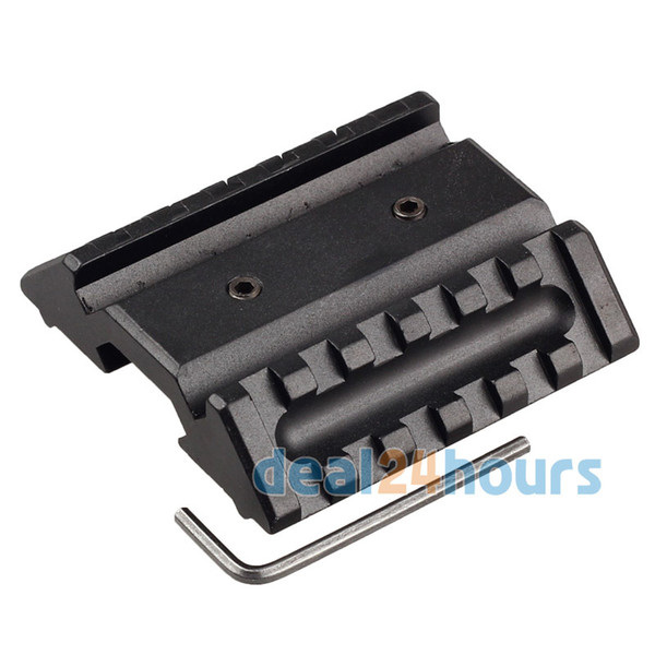 Wholesale-New Tactical Dual 45 Degree Offset Mount 20mm W/ Picatinny Rail For Sight  Free shipping