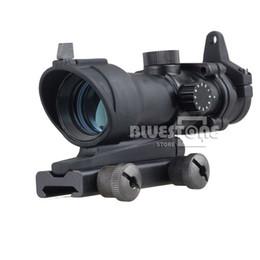 Wholesale Acog Dot Sight - Wholesale-New Tactical Hunting 1x32 Illumination Red Green Dot Rifle Sight Scope ACOG Style Free Shipping