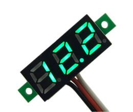 Wholesale Led Digital Volt Meter - F08508-G Green LED 0~100V DC Volt Voltage Battery Tester Meter Digital Voltmeter Tester + Freeship