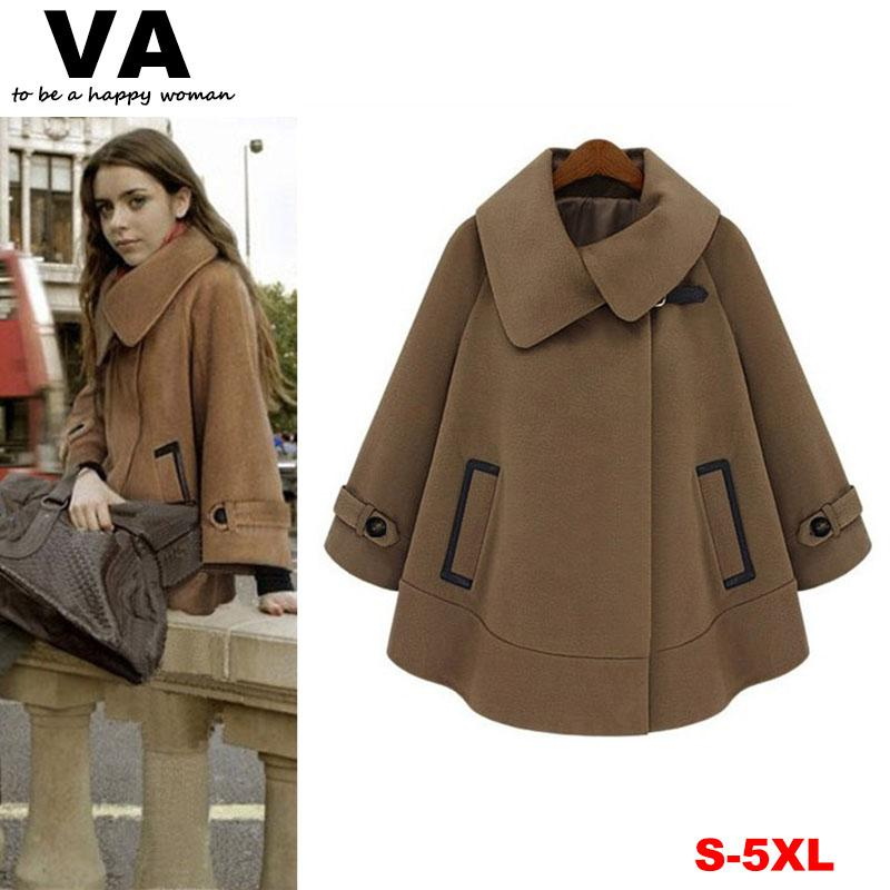 3d0a67ac93e 2019 New 2014 Women Cape Coat