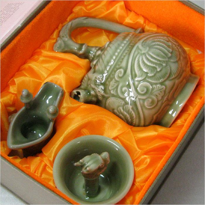 Yao, upscale gift antique porcelain pot Shaanxi Parure back faucet features gifts ornaments Cup