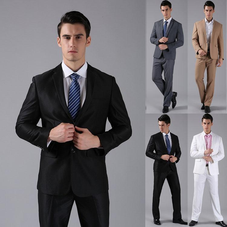 Different Color Styles Formal Men Suits Two Button Wedding Groom ...