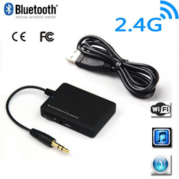 Wholesale Wireless Dongle For Tablets - Mini 3.5mm Bluetooth Wireless Audio Receiver A2DP Stereo Dongle for Smartphone Tablet Speaker V805
