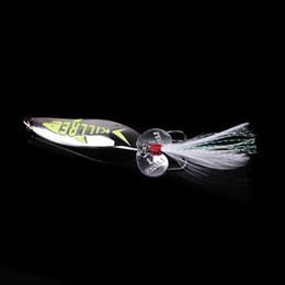 Wholesale Glow Bait - 5.5cm 10g Metal Night Glow Fishing Lure Hard Bait Sequin Spoon Noise Paillette with Feather Treble Hook Noctilucent Luminous H11970