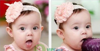 Wholesale Superb Clothing - Wholesale-Superb! [VipCare] Baby Toddler Kids Children Girls Elasticity Roses Flower Clothing Hair Headband Save up to 50% 2014 New Sale
