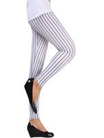 yüksek kaliteli giyim kadın artı boyutu toptan satış-Yeni 2.014 kadın giyim kaliteli siyah dikey şerit artı boyutu kadın tozluk yüksek elastik spor legging pantolon stokta