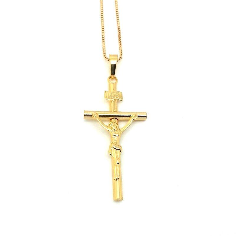 2018 Fashion Jewelry Jesus Cross Pendant Necklace Man Jewelry Set