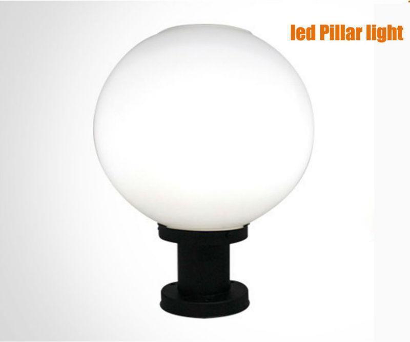 Led Light Globe Solar Post Light Pillar Lamps Ultra Bright Street Lighting Garden Supplies Outdoor Lighting Waterproof Free Shipping
