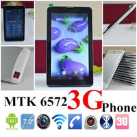 """Wholesale Tablets Free Sim Card - 7"""" 3G Phablet Phone Calling Tablet PC MTK6572 Dual Core Android 4.2 Capacitive Touch WCDMA GSM Bluetooth Camera Dual Sim Card Free Shipping"""
