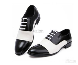 Wholesale Bridegroom Shoes - British color matching Groom shoes men's wedding shoes leather shoes Prom shoes bridegroom shoes