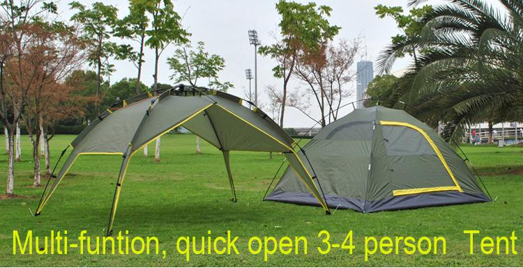 See larger image & 3-4 Person Automatic Camping And Hiking Tents Multi-function Two ...
