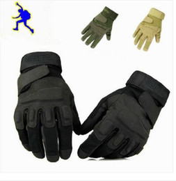 Wholesale Military Black Gloves - Outdoor Sports Blackhawk Camping Military Tactical Gloves Swat Airsoft Hunting Motorcycle Cycling Racing Riding Gloves Armed Mittens