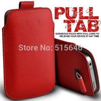 Wholesale Thl W11 Phone - High Quality Leather Sleeve Pouch Cell Phones Cases Pull Tab For THL W8 W8s W200 W200s W11