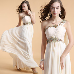Wholesale Embroidery Dresses For Evening - 21306 sleeveless large plus size maxi one shoulder evening dress for party gown 2014 new arrival elegant silver embroidery