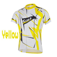 Wholesale Cheji Cycle - 2015 Cheji Cycling Jerseys Phantom Yellow Short Sleeves Top Quality Cheap Bike Jerseys Summer Cool Cycling Shirts Breathable Cycling Jerseys