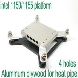 Wholesale Heated Block - 4holes intel 1150 1155platform aluminum plywood block for diameter 6mm heat pipe