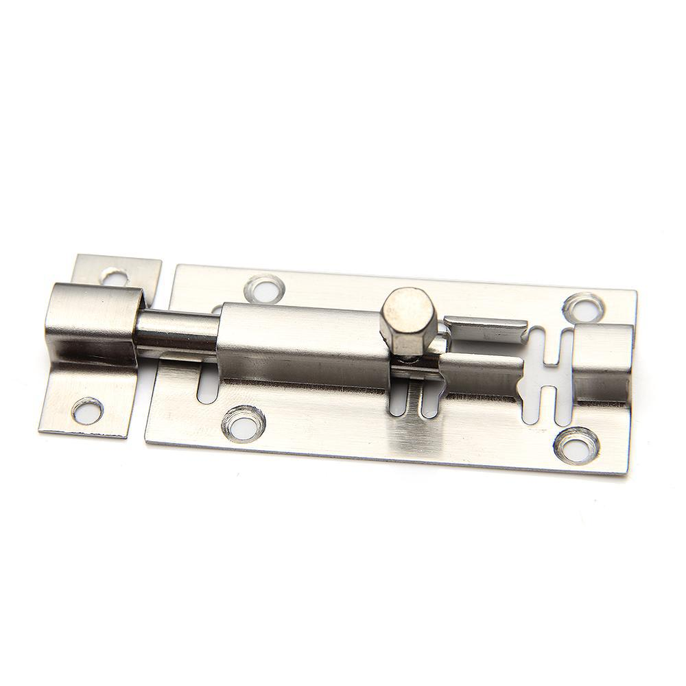 2018 Door Sliding Latch Bolt Lock Stainless Steel 3 Inch Home Safety