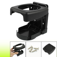 Wholesale Screw Mount Black Plastic Folding Car Truck Drink Cup Bottle Holder Stand