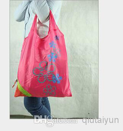 Wholesale Breast Hanging - Nylon Foldable Shopping Bags Reusable shopping bag Eco-Friendly Shopping Bags Tote Bags Fold the strawberry bag H396