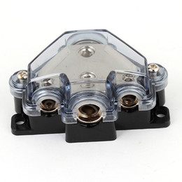 Wholesale Shell Block - Car Auto Audio 1 in 3 Out AGU Fuse Holder Distribution Block Black Plastic Shell