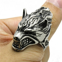 Wholesale Blood Stone Ring - Newest Style Very Cool Cold Blood Angry Sharp Teeth Woft Ring 316L Stainless Steel Jewelry