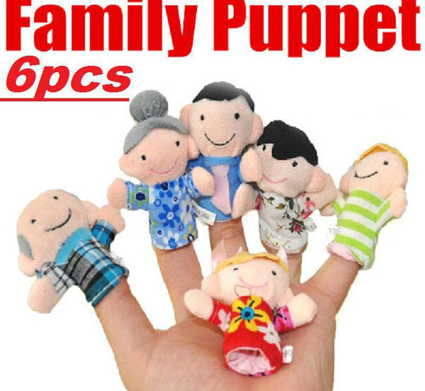 Familie Fingerpuppen Spielzeug Puppen Baby Handpuppe Spielzeug Baby Fingerpuppe Spielzeugpuppen Eine Familie mit sechs Personen