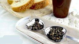$enCountryForm.capitalKeyWord Canada - Heart Shaped tea infuser Mesh Ball Stainless Strainer Herbal Locking Tea Infuser Spoon Strainer Steeper Handle Shower Table Tool