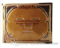 Wholesale Compressed Facial Masks - 500pc lot Gold Bio-Collagen Facial Mask Face Mask Crystal Gold Powder Collagen Facial Mask Moisturizing Anti-aging