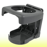 Wholesale Drink Holder Folding Car - Car Auto Hard Plastic Folding Can Drink Cup Can Bottle Holder Gray