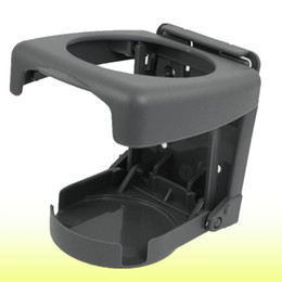 Wholesale Car Plastic Drink Holder - Car Auto Hard Plastic Folding Can Drink Cup Can Bottle Holder Gray