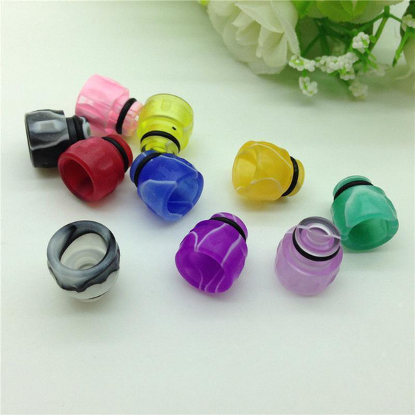 Colorful Acrylic Drip Tips Wide Bore Drip Tip 510 EGO Atomizer Mouthpieces for CE4 CE5 CE6 glass Protank EVOD electronic cigarette rda mods