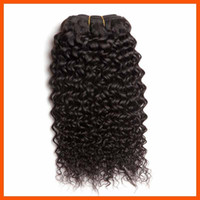 Wholesale Malaysian Hair 5a 4pcs - Virgin Human Hair Jerry Curl Curly Wavy Natural Blcak Brazilian Hair Extension Weft Weave 3 4pcs Lot Mongolian 5A Indian Malaysian Remy Hair