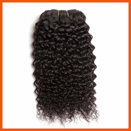 Wholesale Indian Remy Jerry Curls - Virgin Human Hair Jerry Curl Curly Wavy Natural Blcak Brazilian Hair Extension Weft Weave 3 4pcs Lot Mongolian 5A Indian Malaysian Remy Hair