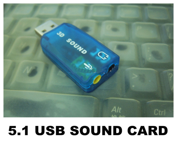 USB 2.0 To 3.5mm Mic / Headphone Jack Stereo Headset Audio Adapter Card 5.1 Sound 3D Channel Audio External Sound Card Adapter