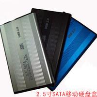 sata dizüstü bilgisayar sürücüsü toptan satış-USB 2.0 2.5 inç Harici SATA Sabit Disk Sürücüsü Muhafaza HDD Kutusu Mavi SATA LAPTOP SERT SÜRÜCÜ KOLEKSIYONU