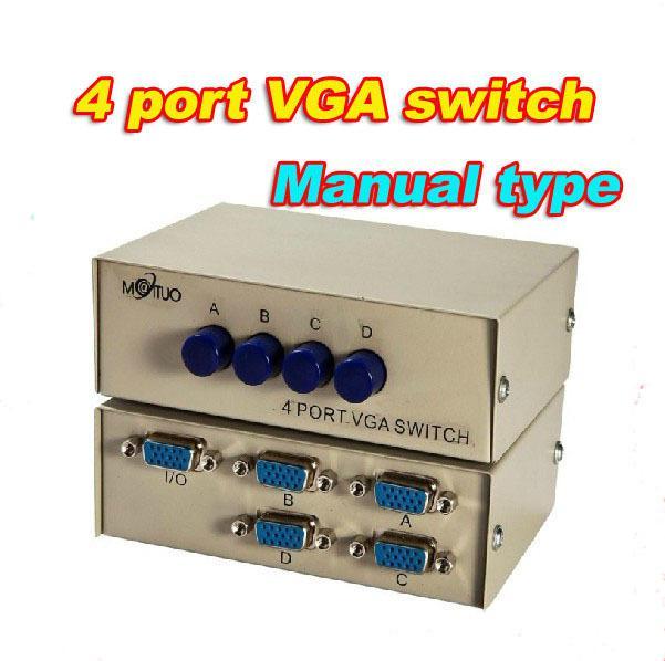 1 PC to 4 Monitor 4 Port VGA SVGA Video LCD Splitter Box Adapter for PC TV