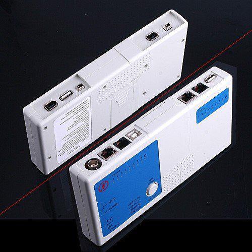 Envío gratis 4 en 1 Cable de red Tester RJ45 / RJ11 / USB / BNC Cable LAN Cat5 Cat6 Cable Tester