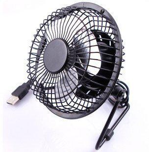 USB 360-degree Rotating PC USB cooling fan pure metal Mini 4 inch Desktop Office Students Small Household Cooling Fan