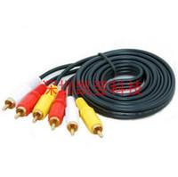 tv rca plug оптовых-10 м. 3 разъема RCA / Phono для подключения к 3 разъемам RCA / Phono.