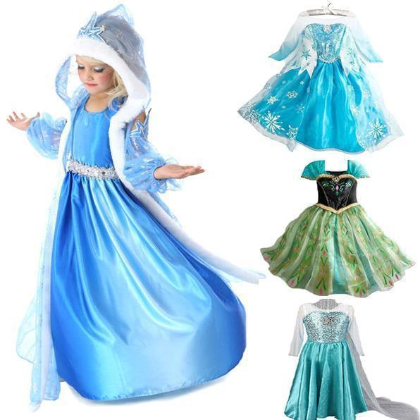 2014 hot baby girls frozen anna and elsa coronation party princess dresses halloween costumeautumn winter kids clothing from haoyun51828s store dhgate - Halloween Anna Costume