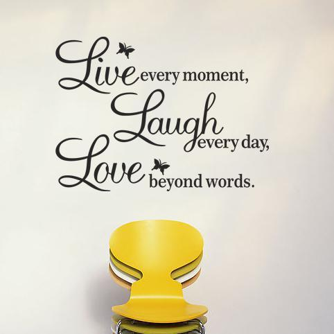 Live Laugh Love Wall Decals Quotes Paper Butterfly Decoration Wall Stickers Quotes And Sayings Home Decor Wall Art Butterflies Wall Saying Lettering Quote ...  sc 1 st  DHgate.com & Live Laugh Love Wall Decals Quotes Paper Butterfly Decoration Wall ...