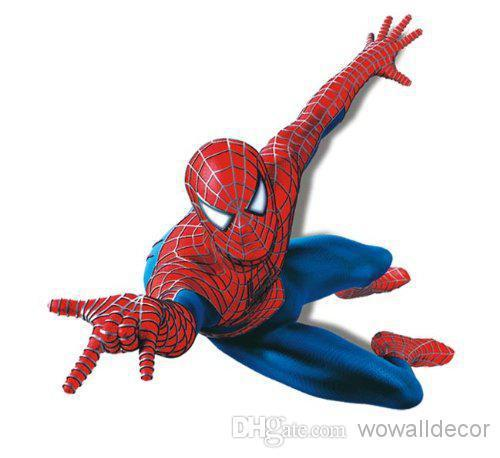 Large PVC Cartoon Spiderman Baby Wall Stickers for Kids ...